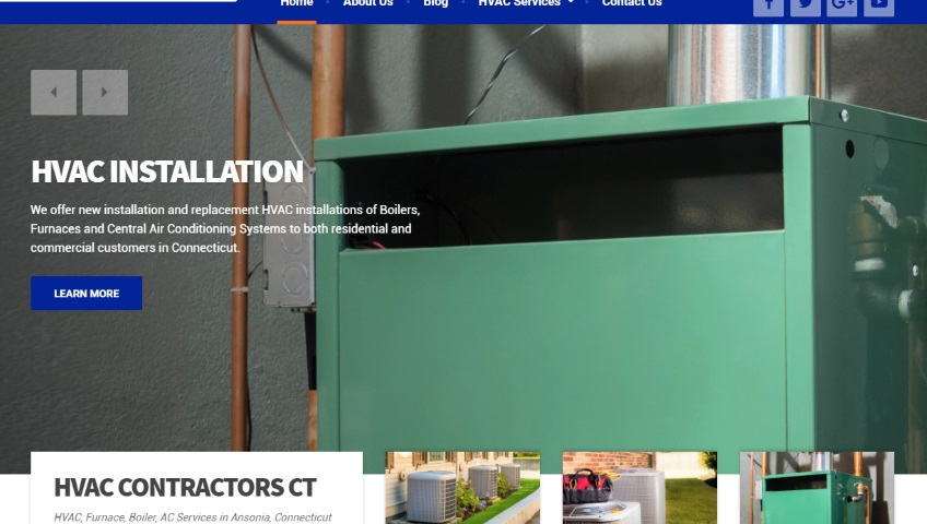 HVAC Contractor WordPress Website